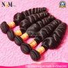2017新しい到着自然で黒いカラーブラジルのバージンのぬれた、波状の緩い巻き毛の人間の毛髪の織り方