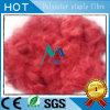 Polyester-Spinnfasern im Rot