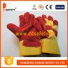 Перчатки Dlc223 безопасности кожаный перчатки красной коровы Split работая