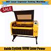 Preiswertes Preis 100W System DER CNC-CO2 Laserengraver-Ausschnitt-Maschinen-Acryllaser-Gravierfräsmaschine-6090 9060 Ruida für Verkauf