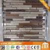 Tira de pulverización en frío mosaico de vidrio y resina de oro mosaico (M855075)