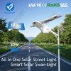 60W 9000lm Rue lumière à LED à énergie solaire pour la zone à distance