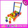 2016 neues Form-Baby-Baustein-Wanderer-Spielzeug, hölzernes Baby-Wanderer-Multifunktionsspielzeug, Qualitäts-Wagen-Spielzeug W16e025