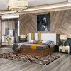 Moderno Clásico Muebles de dormitorio con cama doble (202)