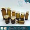 Frasco de vidrio tubular ámbar para inyección farmacéutica
