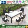 食堂テーブルの椅子の屋外の藤の柳細工の家具(TG-JW73)
