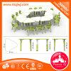 As crianças de plástico Mesa Trapezoidal combinado mobiliário de sala de aula configurado