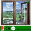 De Deur van de Gordijnstof van het Aluminium van de lage Prijs met Aziatisch Standaard, Uitgaand Openslaand raam en Deur met Aangemaakte Verglazing