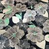Tessuto 100% di Microfiber di stampa del fiore del poliestere per lo Short della spiaggia
