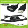 3 Os pés 3.0 USB e AUX 3,5mm fixar um cabo USB de extensão