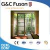 バルコニーのための耐久のシャンペンカラーアルミニウム開き窓のフレンチドア