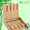 Bambuskäse-Ausschnitt-Brett eingestellt (HX8072)