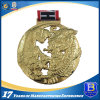 ダイカストの締縄との3Dデザインの創造的な金属メダルを