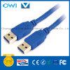 USB 3.0 um macho a um cabo masculino