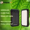 10000mAh 태양 에너지 은행 옥외 방수 이동 전화 충전기 3 USB 충전기 힘 은행