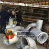 Coude de débit d'acier inoxydable avec la bride SS304/SS304L/SS316/SS316L d'extrémité de moignon de soudure