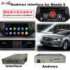 HD車の人間の特徴をもつマルチメディア2014-2016 Mazda6サポートのためのビデオインターフェイスGPS運行ボックスBt/WiFi/Mirrorlink