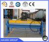WH06-1.5X1220 tipo manual máquina de doblez y plegable de la placa de acero