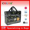 Pp réutilisables Woven Zipper Tote Bag avec Cartoon Logo