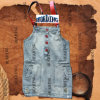 Il Most Popular il Jean/Skirt del Denim con la Spalla-Straps di Women's/Ladies in 2015 (HDLJ0013)