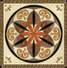 Tegel 1200X1200mm van de Vloer van het Kristal van het Tapijt van het Patroon van de bloem Tegel Opgepoetste Ceramische (BMP36)