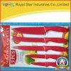 Нож ручки оптового высокого качества цветастый пластичный установил (RYST0118C)