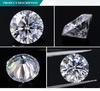 공장 최고 가격 6.5 mm 1 CT 8 Hearts& 화살 다이아몬드 둥근 커트 영구히 Moissanite 1개의 백색 다이아몬드