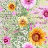 солнцецвет Pigment&Disperse лозы 100%Polyester напечатал ткань для комплекта постельных принадлежностей