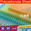 Folha contínua Manufacuter da folha ondulada do painel da folha U de Multiwall da folha do policarbonato