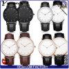 Торговая марка Womage Yxl-004 моды ловушки из натуральной кожи смотреть женщин моды повседневный Wristwatch Dw стиле роскошь мужчин спортивного кварцевые часы