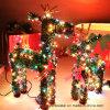 El Ciervo de Navidad Verde de PVC con luz LED para la decoración de vacaciones