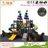 子供のためのカウボーイの方法そして環境に優しく物質的な屋外の子供のプラスチックスライドのゲームの運動場