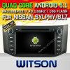 Coche DVD del sistema del androide 5.1 de Witson para Nissan Sylphy/B17 (W2-F9901N)