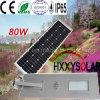 réverbère solaire Integrated de 80W DEL