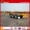 三Axle 40ft Container Transport Gooseneck Skeleton Semi Trailer