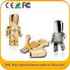 선택 (EM604)를 위해 황금 & 은 금속 로봇 USB 드라이브
