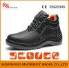 Precio de acero negro de los zapatos de seguridad del casquillo de la punta del cuero partido de la vaca