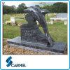 Lápide azul popular do golfinho do granito para o cemitério