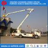 HOWO 4X2の高い持ち上がるプラットホームのトラック200kgバスケットが付いているトラック22メートルの高度の