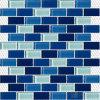 Mosaico blu di derivazione di vetro della piscina del sottopassaggio