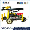 130m Air Compressor Deep Rock Drilling Machine Dfq-130W Trolley