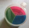 Salt plástico Sugar Container con Spoon