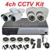 Sistemas Home da câmara de segurança com a câmera de 4 HD e o DVR