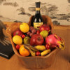 Bois fait main, bol de fruits ménagers