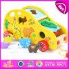 Inteligência Pull Line Block Toy para Kids, Toy Wholesale W05b118 de Pull Line Block Car Children