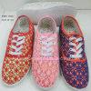 Nieuwe Stijl de Schoenen van Dame Flat Shoes Women Injection Doek (1010-18)