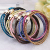 Ragazze Fashion 2 in 1 Glittery Elastic Rubber Hairbands (JE1548)