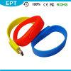 Подгонянный браслет USB Wristband кремния логоса (ED109)