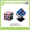 広告宣伝のロゴのための黒いベースが付いている5.7cm Rubikの立方体