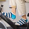 La marca de fábrica de Oici pega calcetines del algodón de la raya de los calcetines del barco de los calcetines de los hombres de /Spring del otoño